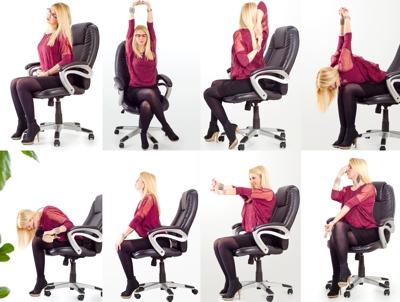 Gymnastik im Büro