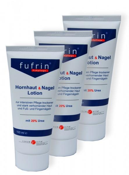 Fufrin Hornhaut & Nagel Lotion 3er-Vorteils-Pack